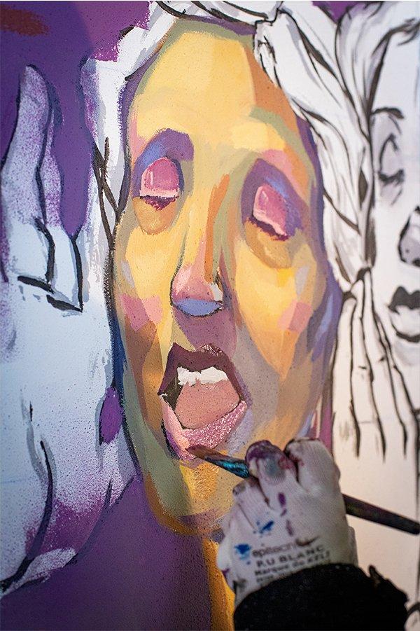 Fresque décoration peinture Offside Studio Gallery